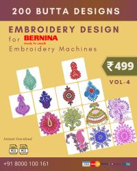 Vol-4, 200 Embroidery Butta Designs for Bernina Machine, Instant Download
