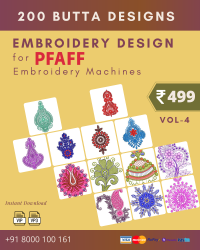 Vol-4, 200 Embroidery Butta Designs for Pfaff Machine, Instant Download