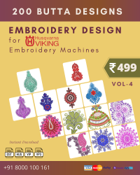 Vol-4, 200 Embroidery Butta Designs for Husqvarna Viking Machine, Instant Download