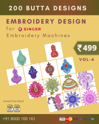 Vol-4, 200 Embroidery Butta Designs for Singer Machine, Instant Download