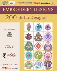 Vol-5, 200 Embroidery Butta Designs for Multi Needle Machines, Instant Download