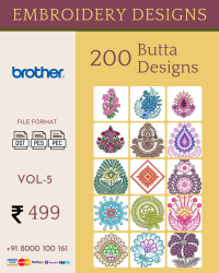 Vol-5, 200 Embroidery Butta Designs for Brother Machine, Instant Download
