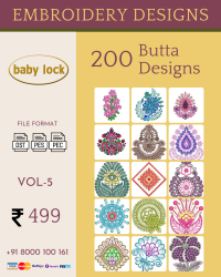 Vol-5, 200 Embroidery Butta Designs for Babylock Machine, Instant Download