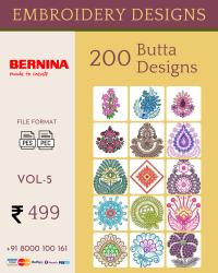 Vol-5, 200 Embroidery Butta Designs for Bernina Machine, Instant Download