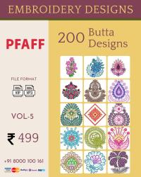 Vol-5, 200 Embroidery Butta Designs for Pfaff Machine, Instant Download