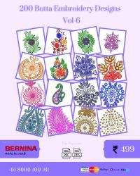 Vol-6, 200 Embroidery Butta Designs for Bernina Machine, Instant Download