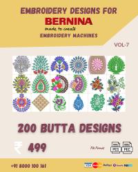 Vol-7, 200 Embroidery Butta Designs for Bernina Machine, Instant Download