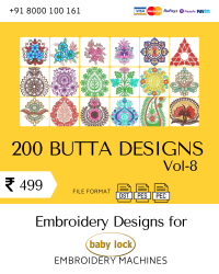 Vol-8, 200 Embroidery Butta Designs for Babylock Machine, Instant Download