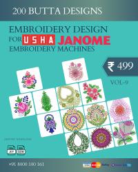 Vol-9, 200 Embroidery Butta Designs for Usha Janome Machine, Instant Download