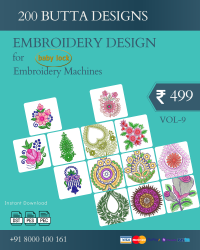 Vol-9, 200 Embroidery Butta Designs for Babylock Machine, Instant Download