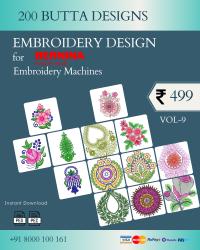 Vol-9, 200 Embroidery Butta Designs for Bernina Machine, Instant Download