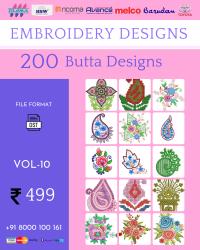 Vol-10, 200 Embroidery Butta Designs for Multi Needle Machines, Instant Download