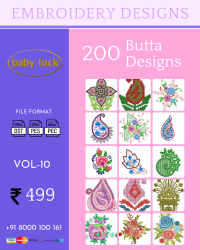 Vol-10, 200 Embroidery Butta Designs for Babylock Machine, Instant Download