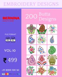 Vol-10, 200 Embroidery Butta Designs for Bernina Machine, Instant Download
