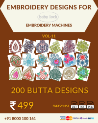 Vol-11, 200 Embroidery Butta Designs for Babylock Machine, Instant Download