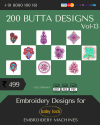 Vol-13, 200 Embroidery Butta Designs for Babylock Machine, Instant Download