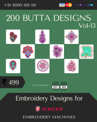 Vol-13, 200 Embroidery Butta Designs for Singer Machine, Instant Download