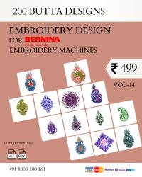 Vol-14, 200 Embroidery Butta Designs for Bernina Machine, Instant Download