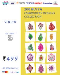 Vol-15, 200 Embroidery Butta Designs for Multi Needle Machines, Instant Download