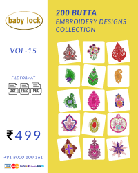 Vol-15, 200 Embroidery Butta Designs for Babylock Machine, Instant Download