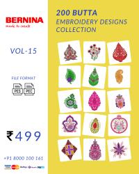 Vol-15, 200 Embroidery Butta Designs for Bernina Machine, Instant Download