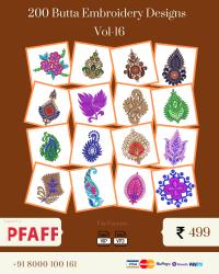 Vol-16, 200 Embroidery Butta Designs for Pfaff Machine, Instant Download