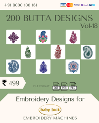 Vol-18, 200 Embroidery Butta Designs for Babylock Machine, Instant Download