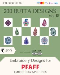 Vol-18, 200 Embroidery Butta Designs for Pfaff Machine, Instant Download