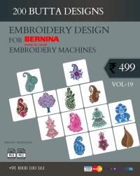 Vol-19, 200 Embroidery Butta Designs for Bernina Machine, Instant Download