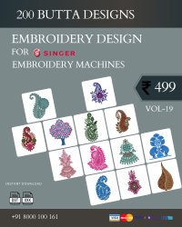 Vol-19, 200 Embroidery Butta Designs for Singer Machine, Instant Download