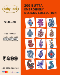 Vol-20, 200 Embroidery Butta Designs for Babylock Machine, Instant Download