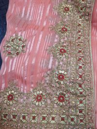 C PALLU WITH BLOUSE SAREE EMBROIDERY DESIGN