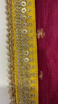 3 + 5 mm with cording lace embroidery design