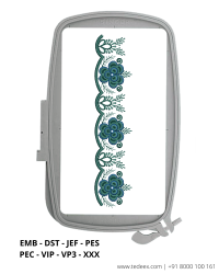 Cut Work Lace Border Embroidery Design - Download Online