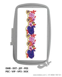 Flower Leaf Cut Work Lace Border Embroidery Design - Download Online