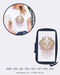 Creative Line Work Embroidery design