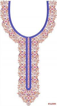 neck & gala embroidery design