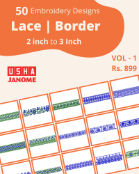 50 Border Designs Pack for Usha-janome Machine
