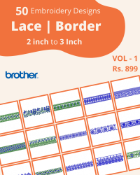 50 Border Designs Pack for Brother Machine