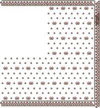 butta pallu with lace saree embroidery design