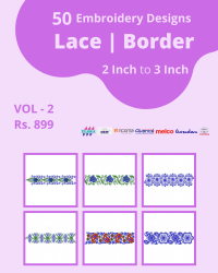 50 Border Designs Pack for Multi Needle Single Head Machine