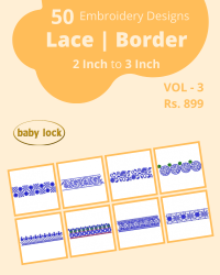 50 Border Designs Pack for Babylock Machine