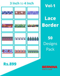 50 Border Designs Pack for Bernina Machine
