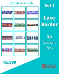 50 Border Designs Pack for Husqvarna Viking Machine