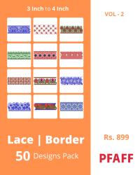 50 Border Designs Pack for Pfaff Machine