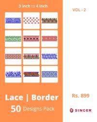 50 Border Designs Pack for Singer Machine