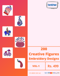Figure Butta Embroidery Designs Pack for Brother Machine