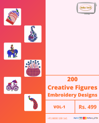 Figure Butta Embroidery Designs Pack for Babylock Machine
