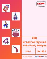 Figure Butta Embroidery Designs Pack for Bernina Machine