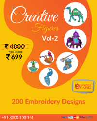 Figure Butta Embroidery Designs Pack for Husqvarna Viking Machine